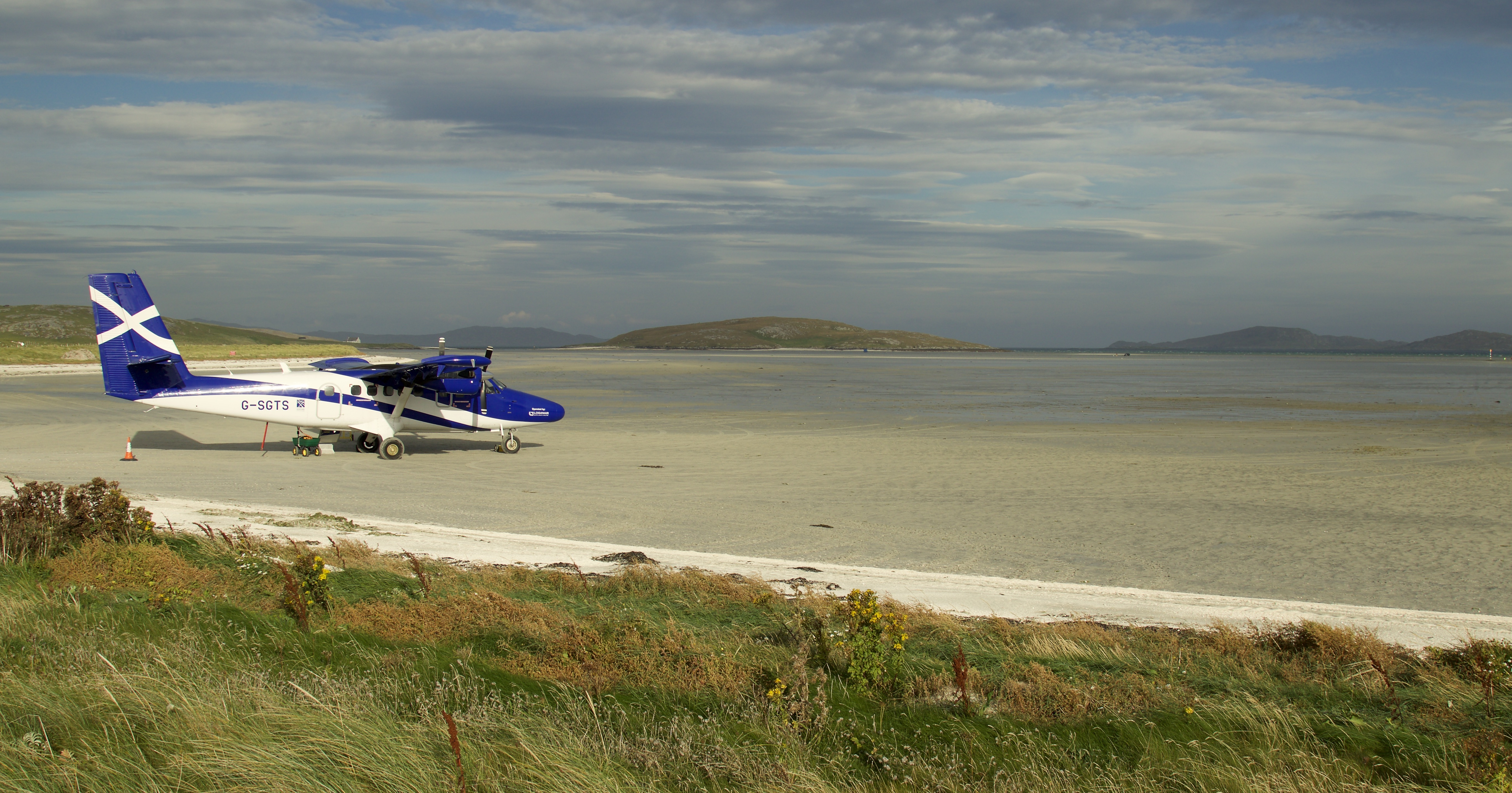 Aircraft on the runway at Barra Airport